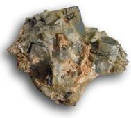 Akvamarin Kristallkluster med svart Turmalin